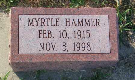 HAMMER, MYRTLE - Lincoln County, South Dakota   MYRTLE HAMMER - South Dakota Gravestone Photos
