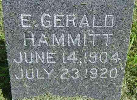 HAMMIT, E GERALD - Lincoln County, South Dakota   E GERALD HAMMIT - South Dakota Gravestone Photos