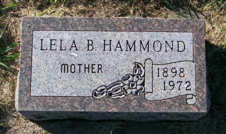 HAMMOND, LELA B. - Lincoln County, South Dakota   LELA B. HAMMOND - South Dakota Gravestone Photos