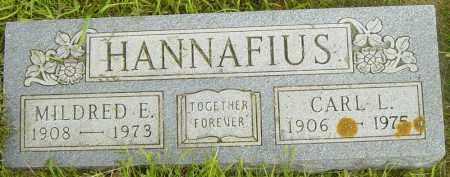 HANNAFIUS, MILDRED E - Lincoln County, South Dakota | MILDRED E HANNAFIUS - South Dakota Gravestone Photos