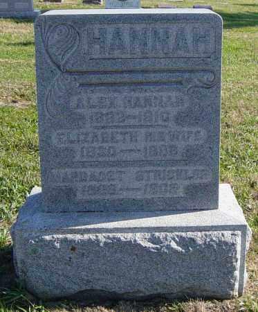 HANNAH, ELIZABETH - Lincoln County, South Dakota | ELIZABETH HANNAH - South Dakota Gravestone Photos