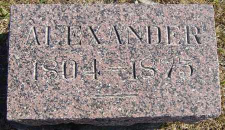 HANNAH, ALEXANDER - Lincoln County, South Dakota | ALEXANDER HANNAH - South Dakota Gravestone Photos