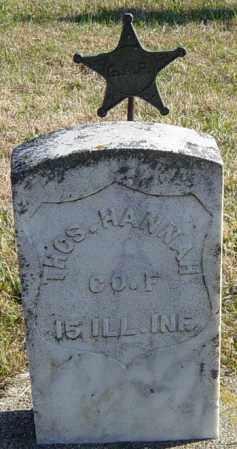 HANNAH MLITARY, THOMAS - Lincoln County, South Dakota   THOMAS HANNAH MLITARY - South Dakota Gravestone Photos