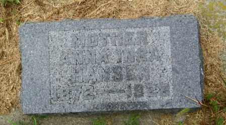 HANSEN, ANNA INGA - Lincoln County, South Dakota | ANNA INGA HANSEN - South Dakota Gravestone Photos