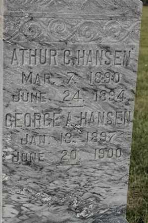 HANSEN, GEORGE A - Lincoln County, South Dakota | GEORGE A HANSEN - South Dakota Gravestone Photos