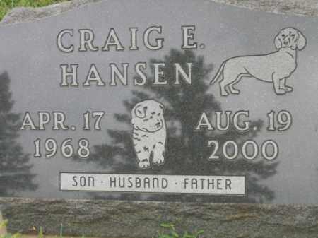 HANSEN, CRAIG E - Lincoln County, South Dakota | CRAIG E HANSEN - South Dakota Gravestone Photos