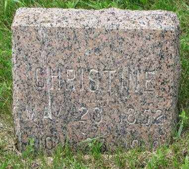 HANSEN, CHRISTINE - Lincoln County, South Dakota | CHRISTINE HANSEN - South Dakota Gravestone Photos