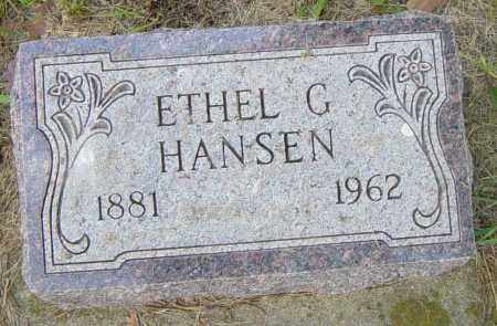 HANSEN, ETHEL G - Lincoln County, South Dakota | ETHEL G HANSEN - South Dakota Gravestone Photos