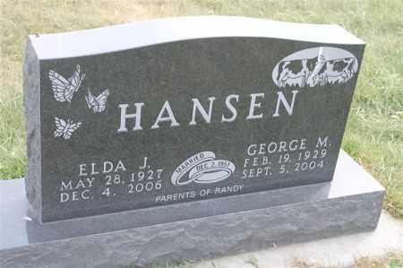 HANSEN, GEORGE M - Lincoln County, South Dakota | GEORGE M HANSEN - South Dakota Gravestone Photos