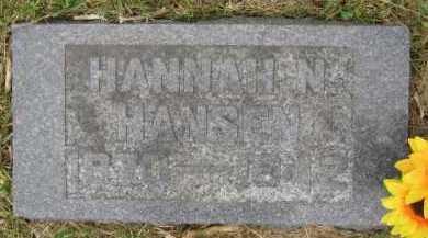 HANSEN, HANNAH N - Lincoln County, South Dakota | HANNAH N HANSEN - South Dakota Gravestone Photos