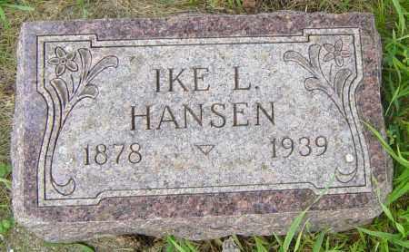 HANSEN, IKE L - Lincoln County, South Dakota   IKE L HANSEN - South Dakota Gravestone Photos