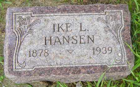 HANSEN, IKE L - Lincoln County, South Dakota | IKE L HANSEN - South Dakota Gravestone Photos
