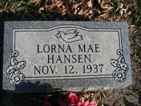 HANSEN, LORNA MAE - Lincoln County, South Dakota   LORNA MAE HANSEN - South Dakota Gravestone Photos