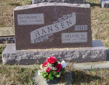 HANSEN, RAYMOND L - Lincoln County, South Dakota | RAYMOND L HANSEN - South Dakota Gravestone Photos