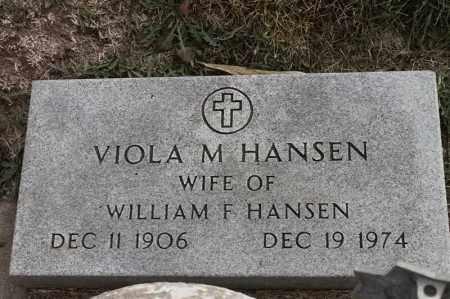 HANSEN, VIOLA M - Lincoln County, South Dakota | VIOLA M HANSEN - South Dakota Gravestone Photos