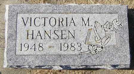 HANSEN, VICTORIA M - Lincoln County, South Dakota   VICTORIA M HANSEN - South Dakota Gravestone Photos