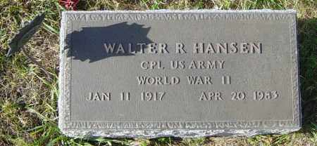 HANSEN, WALTER R - Lincoln County, South Dakota | WALTER R HANSEN - South Dakota Gravestone Photos