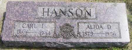 HANSON, ALIDA D - Lincoln County, South Dakota   ALIDA D HANSON - South Dakota Gravestone Photos