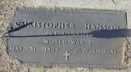HANSON, CHRISTOPHER - Lincoln County, South Dakota | CHRISTOPHER HANSON - South Dakota Gravestone Photos