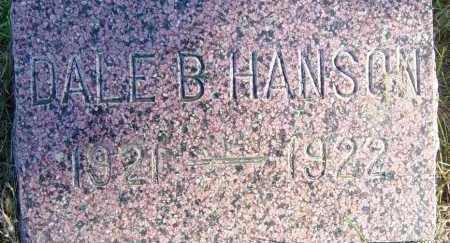 HANSON, DALE B - Lincoln County, South Dakota   DALE B HANSON - South Dakota Gravestone Photos
