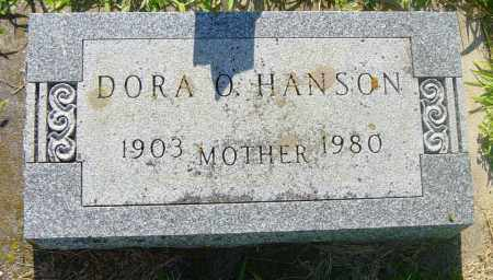 HANSON, DORA O - Lincoln County, South Dakota | DORA O HANSON - South Dakota Gravestone Photos