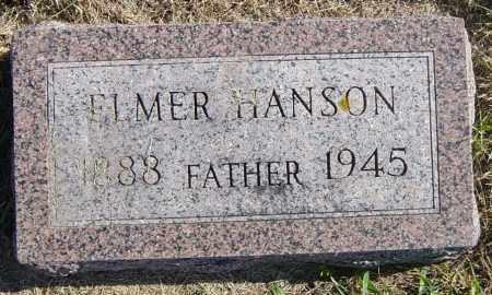 HANSON, ELMER - Lincoln County, South Dakota   ELMER HANSON - South Dakota Gravestone Photos