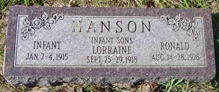 HANSON, RONALD - Lincoln County, South Dakota | RONALD HANSON - South Dakota Gravestone Photos