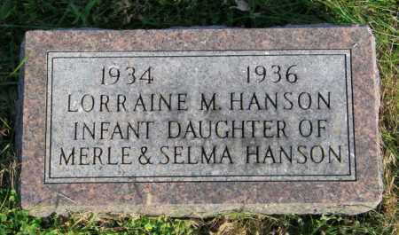 HANSON, LORRAINE M. - Lincoln County, South Dakota | LORRAINE M. HANSON - South Dakota Gravestone Photos