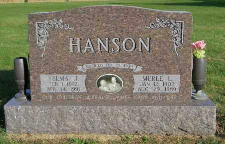 HANSON, MERLE L. - Lincoln County, South Dakota | MERLE L. HANSON - South Dakota Gravestone Photos