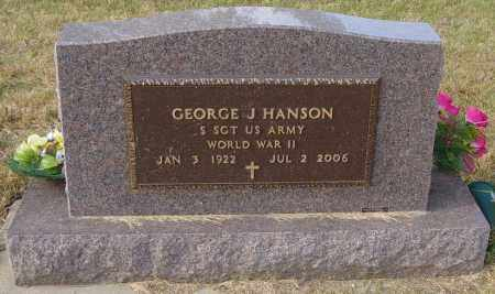 HANSON MILITARY, GEORGE J - Lincoln County, South Dakota | GEORGE J HANSON MILITARY - South Dakota Gravestone Photos