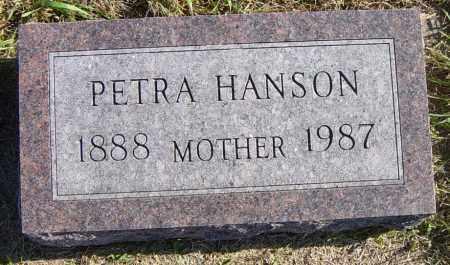 HANSON, PETRA - Lincoln County, South Dakota | PETRA HANSON - South Dakota Gravestone Photos