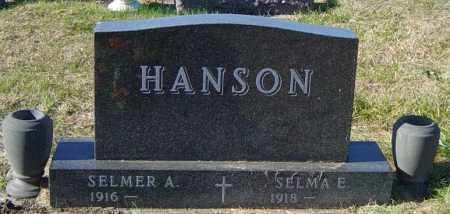 ANDERSON HANSON, SELMA E - Lincoln County, South Dakota | SELMA E ANDERSON HANSON - South Dakota Gravestone Photos
