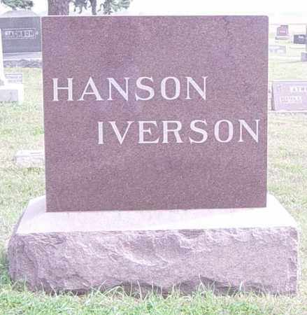 HANSON/IVERSON, FAMILY MEMORIAL - Lincoln County, South Dakota | FAMILY MEMORIAL HANSON/IVERSON - South Dakota Gravestone Photos