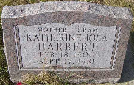 HARBERT, KATHERINE IOLA - Lincoln County, South Dakota | KATHERINE IOLA HARBERT - South Dakota Gravestone Photos