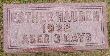 HAUGEN, ESTHER - Lincoln County, South Dakota   ESTHER HAUGEN - South Dakota Gravestone Photos