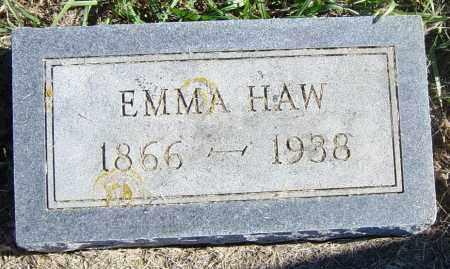 HAW, EMMA - Lincoln County, South Dakota | EMMA HAW - South Dakota Gravestone Photos
