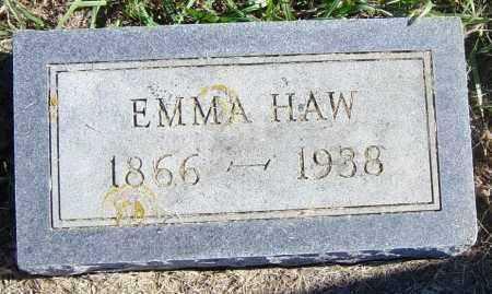 HAW, EMMA - Lincoln County, South Dakota | EMMA HAW - South Dakota Gravestone Photos