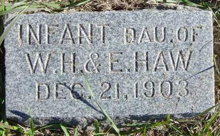 HAW, INFANT DAU - Lincoln County, South Dakota   INFANT DAU HAW - South Dakota Gravestone Photos