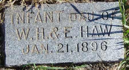 HAW, INFANT DAU - Lincoln County, South Dakota | INFANT DAU HAW - South Dakota Gravestone Photos