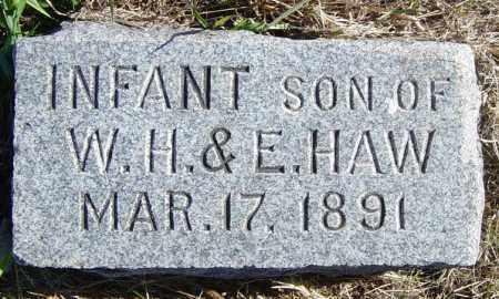 HAW, INFANT SON - Lincoln County, South Dakota | INFANT SON HAW - South Dakota Gravestone Photos