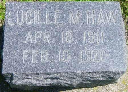 HAW, LUCILLE M - Lincoln County, South Dakota | LUCILLE M HAW - South Dakota Gravestone Photos