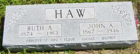 HAW, JOHN A - Lincoln County, South Dakota | JOHN A HAW - South Dakota Gravestone Photos