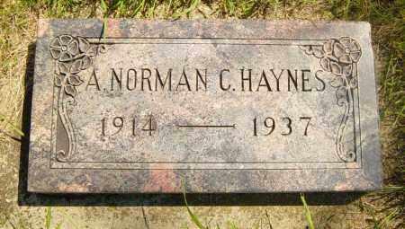 HAYNES, A NORMAN C - Lincoln County, South Dakota | A NORMAN C HAYNES - South Dakota Gravestone Photos