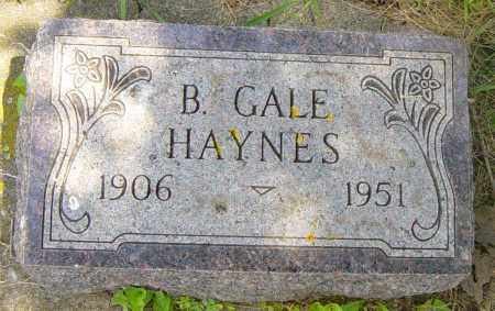 HAYNES, B GALE - Lincoln County, South Dakota | B GALE HAYNES - South Dakota Gravestone Photos