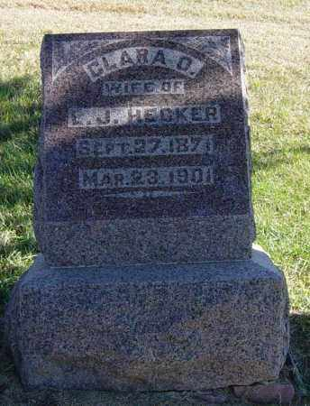HECKER, CLARA O - Lincoln County, South Dakota | CLARA O HECKER - South Dakota Gravestone Photos