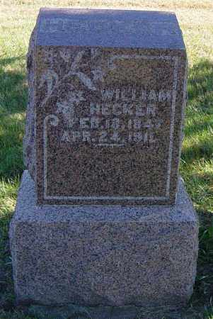 HECKER, WILLIAM - Lincoln County, South Dakota | WILLIAM HECKER - South Dakota Gravestone Photos