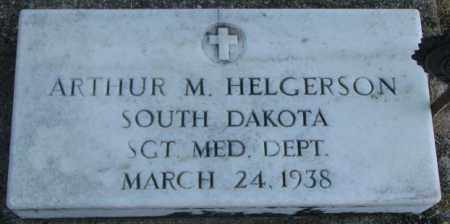 HELGERSON, ARTHUR M. (MILITARY) - Lincoln County, South Dakota | ARTHUR M. (MILITARY) HELGERSON - South Dakota Gravestone Photos