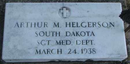 HELGERSON, ARTHUR M. (MILITARY) - Lincoln County, South Dakota   ARTHUR M. (MILITARY) HELGERSON - South Dakota Gravestone Photos