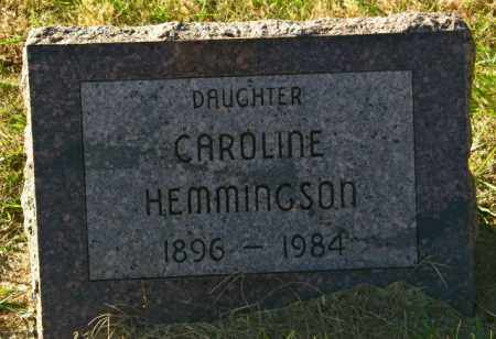 HEMMINGSON, CAROLINE - Lincoln County, South Dakota | CAROLINE HEMMINGSON - South Dakota Gravestone Photos