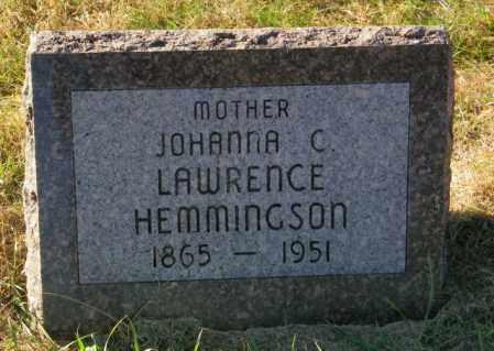 HEMMINGSON, JOHANNA C. - Lincoln County, South Dakota | JOHANNA C. HEMMINGSON - South Dakota Gravestone Photos